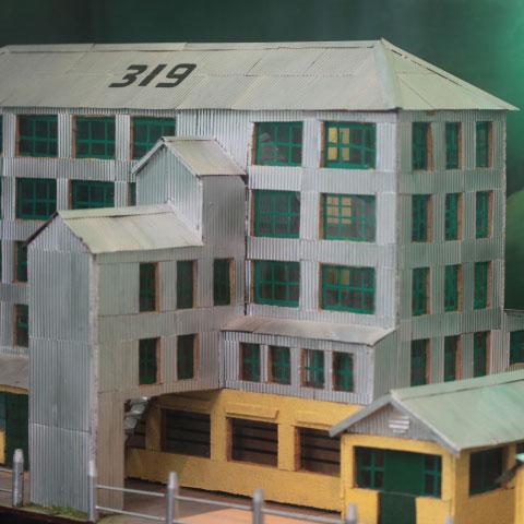 Theemuseum - Maquette van een theefabriek in Sri Lanka